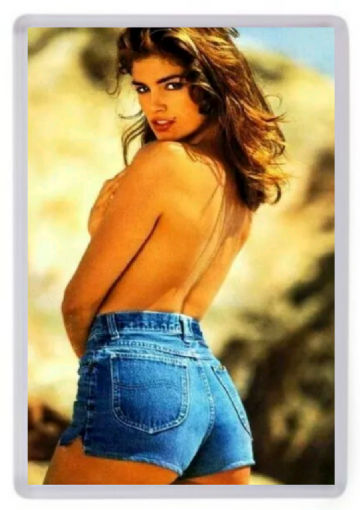 Cindy Crawford (Denim Hotpants) Fridge Magnet